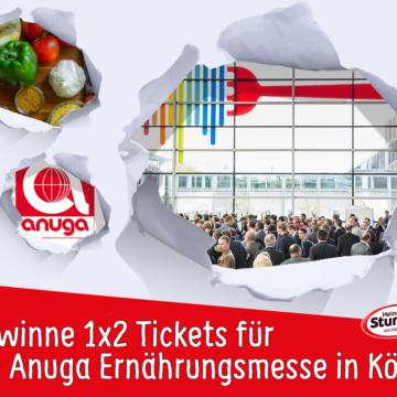 September-Gewinnspiel   1×2 Eintrittskarten für die Anuga Ernährungsmesse zu gewinnen!